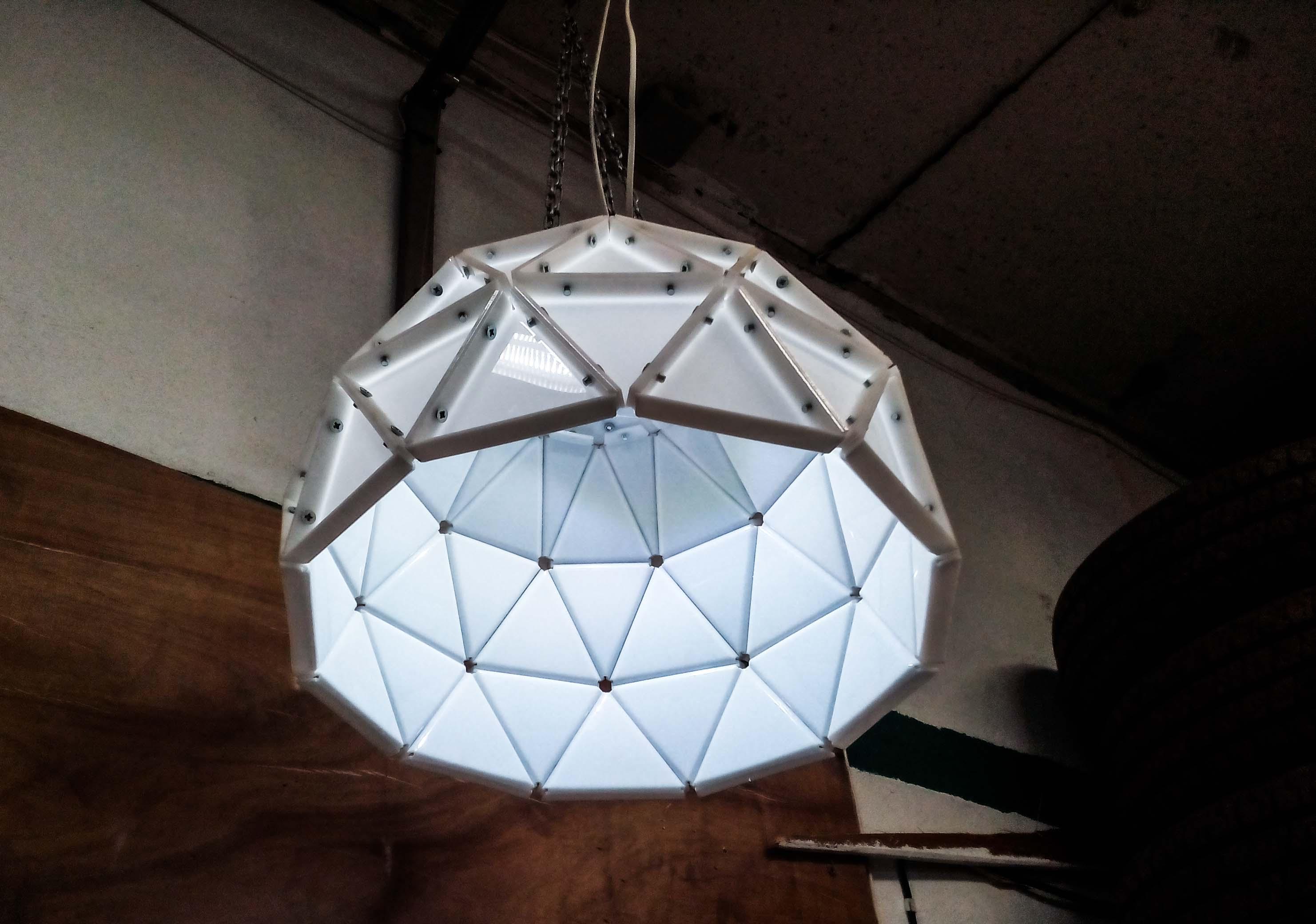 лофт лампа из акрила купить в интернет магазине азбукадекор.рф