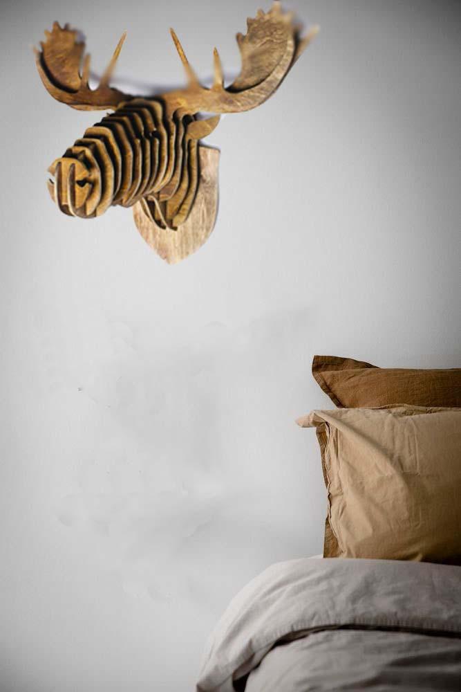 Голова Лося на стену из дерева обьемная в 3D скандинавский сталь купить в интернет магазне АзбукаДекор.рф