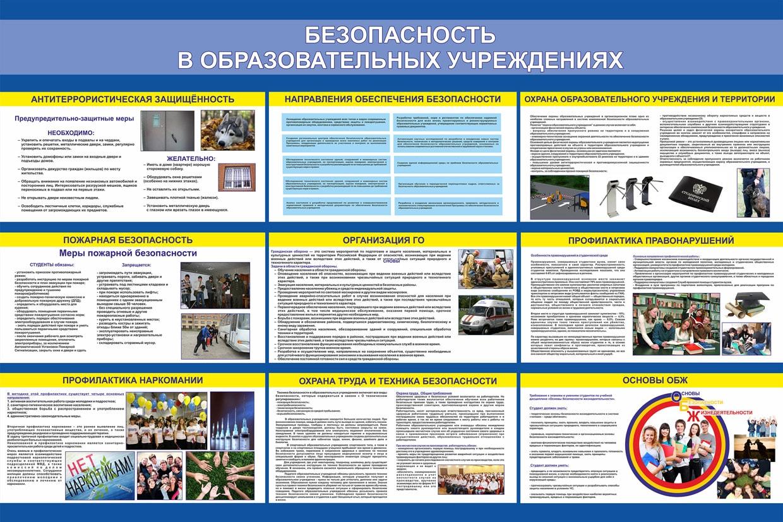 безопасность в образовательных учереждениях стенды по го и чс купить в интернет магазине азбукадекор.рф