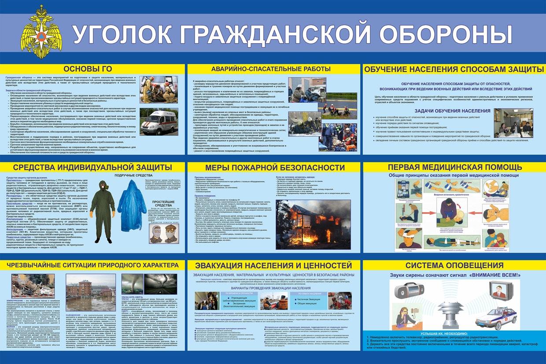 Уголок гражданской обороны стенды го и чс купить в интернет магазине АЗбукаДекор.рф
