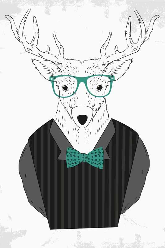 картинка олень в очках замачивания