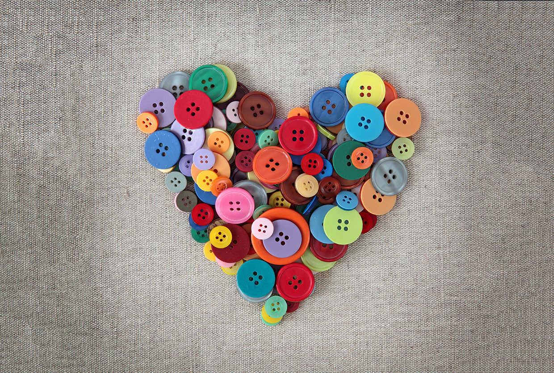 Как сделать сердце из кругов