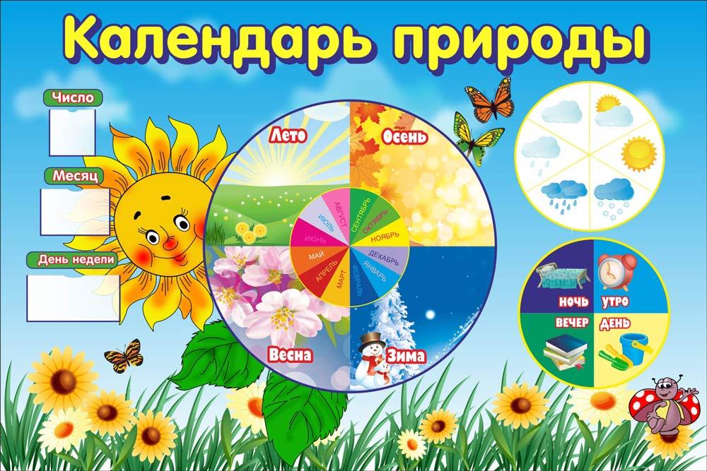 Оформление календаря природы в детском саду своими руками 86