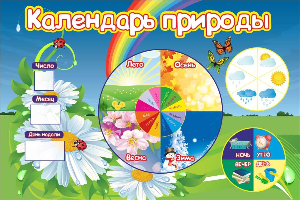 Оформление календаря природы в детском саду своими руками 62