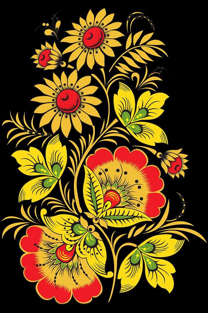 Хохлома вышивка узор рисунок 28