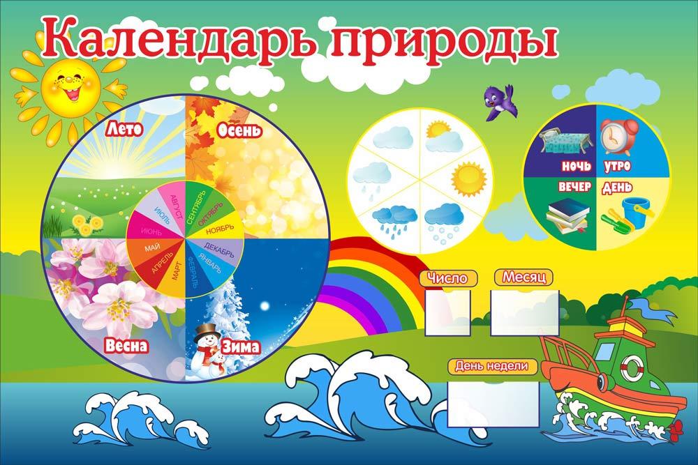 Оформление календаря природы в детском саду своими руками 41