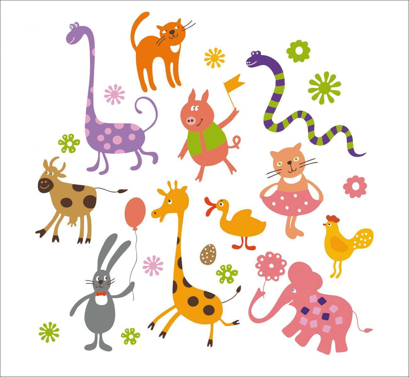 Childrens wallpaper pattern