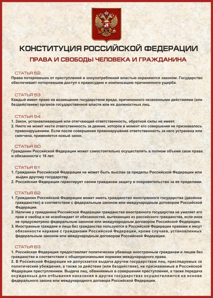 Конституция рф двойное гражданство перспектива устраивала